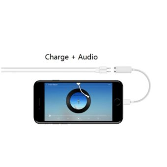 Lightning Audio Charge Adapter for iPhone 7 Support iOS 10.3, DualLightning Female Adapter & Splitter Support Mic, Charge, Data -intl - 3