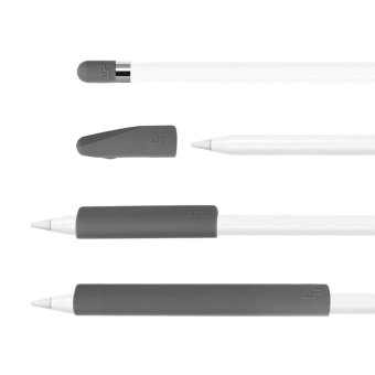 Lightning Power - Set of 4 Premium Silicone Made Pencil Sleeve Cap Saver Holder for Apple Pencil (Grey) - intl