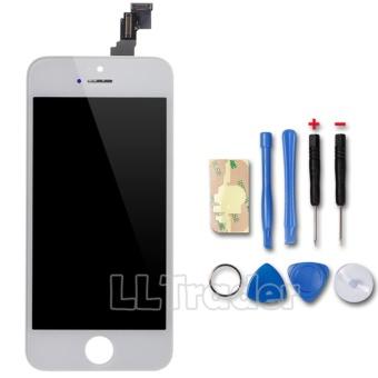 LLTrader Touch Screen Replacement Front Glass Assembly For Apple iPhone 5C LCD Display White - intl