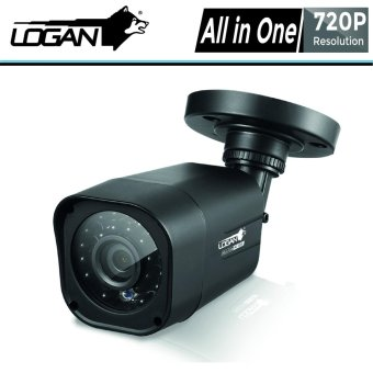 Logan LX1C HD-TVI Analog Night Vision CCTV 720p Weatherproof 1Pc Plastic Bullet Cameras with 65ft Video Cable (Black)