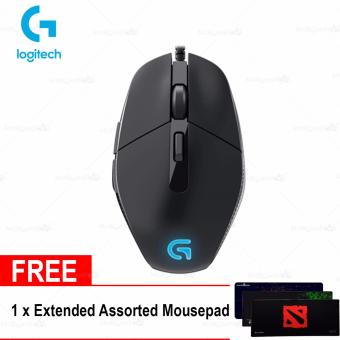 Logitech G302 Wired Optical Mouse w/ FREE Assorted Extended Mousepad