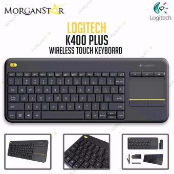 Logitech K400 Plus Wireless Touch Keyboard (Black)