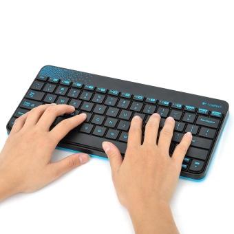 Logitech MK240 79-Key Wireless Keyboard w/ 1000dpi Mouse - Black +Blue (4 x AAA) - intl - 4