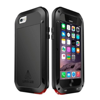 LOVE MEI Metal Ultra-thin Waterproof Dustproof Shockproof Powerful Protective Case for iPhone 6/6S(Black)