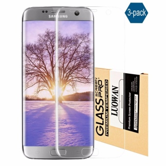 LUOWAN Galaxy S7 Edge Screen Protector, [3-Pack][HD Ultra Clear Film] [Full Coverage] PET Screen Protectors for Samsung Galaxy S7 Edge