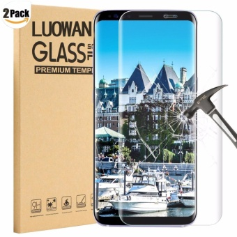 LUOWAN Galaxy S8 Plus Tempered Glass Screen Protector,[2 pack]3DFull Coverage Screen Protector for Samsung Galaxy S8 Plus(Clear) -intl
