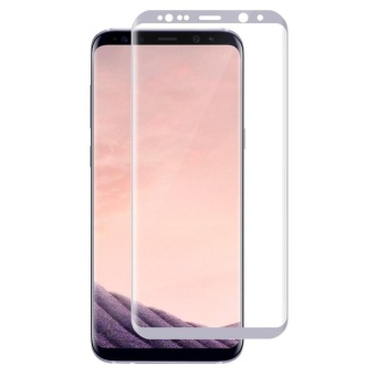 LUOWAN Galaxy S8 Tempered Glass Screen Protector,3D Full CoverageScreen Protector for Samsung Galaxy S8 (White)