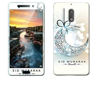 Luxury 3D Painting Front+Back Full Case Cover Color Tempered Glass Case For Nokia6 TA-1000 5.5 inch Screen Protector Film (Color-1) - intl