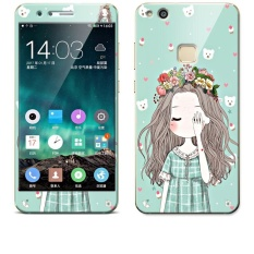 Luxury 3D Painting Front+Back Full Case Cover Color Tempered GlassCase For Huawei P10 Lite