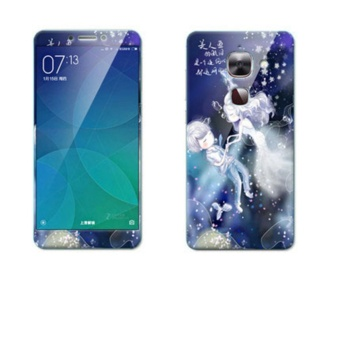 Luxury 3D Painting Front+Back Full Case Cover Color Tempered GlassCase For Letv Le 2 Pro x620 X520 5.5 inch Screen Protector Film(Color-15) - intl