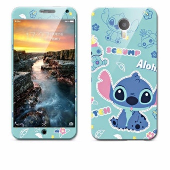 Luxury 3D Painting Front+Back Full Case Cover Color Tempered GlassCase For Meizu M1 Note Screen Protector Film (Color-4) - intl