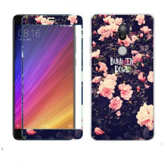 Luxury 3D Painting Front+Back Full Case Cover Color Tempered GlassCase For Xiaomi Mi 5s Plus Screen Protector Film (Color-4) - intl