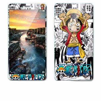 Luxury 3D Painting Front+Back Full Case Cover Color Tempered GlassCase For Xiaomi Redmi Note 4X Screen Protector Film (Color-18) -intl