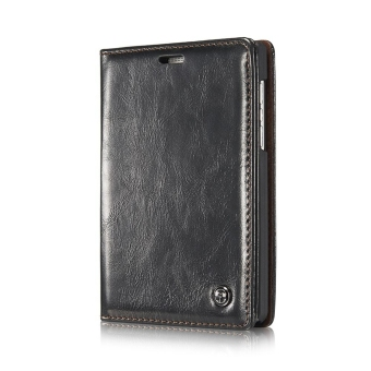 Luxury Flip Leather Wallet Case For Blackberry Passport Q30 withCard Bag (Black) - intl