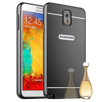 Luxury Metal Aluminum Bumper Hard Back Bumper Case Cover forSamsung Galaxy Note 3 N9000 (Grey)
