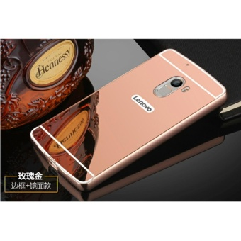Luxury Mirror Bumper Anti-Scratch Bright Protective Case For Lenovo K4 note(rose gold) - intl