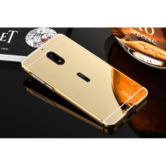 Luxury Mirror Bumper Anti-Scratch Bright Protective Case For Nokia6(gold) - intl