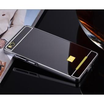 Luxury Mirror Bumper Anti-Scratch Bright Protective Case For XiaomiMi 4i(black) -
