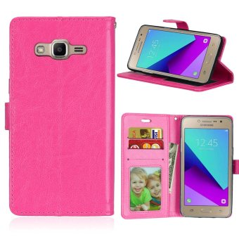 Luxury PU Leather Wallet Flip Protective Case Cover with Card Slotsand Stand for Samsung Galaxy Grand Prime Plus / J2 Prime / G532F -intl