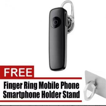 M165 Bluetooth V4.0 Stereo Smartphone Headset for iphone Android(Black) with free 360 Degree Finger Ring Mobile Phone SmartphoneHolder Stand for iPhone PDA MP4 Ebook