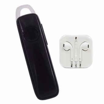 M165 Bluetooth V4.1 Stereo Smartphone High-Quality Headset (Black)with Headset White