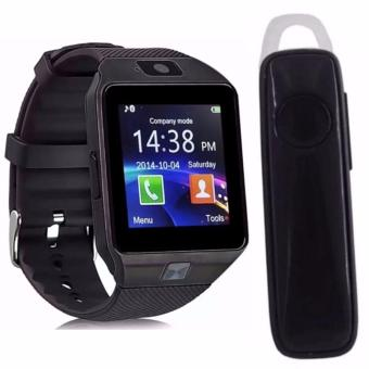M19 Intelligent Phone Quad Smart Watch with Sim Card Slot (Black)with M165 Bluetooth V4.1 Stereo Smartphone High-Quality Headset(Black)