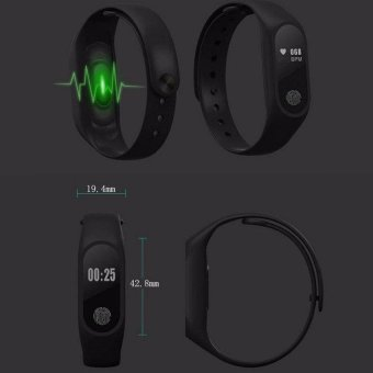 M2 Wristband Heart Rate Monitor Smart Watch Sports Reminder SmartBracelet For IOS And Android - intl - 3
