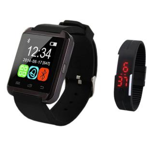 M8 Sport Bluetooth Touchscreen Smart Watch (Black) with FashionTouch Screen Waterproof Candy Color Sport LED Watch