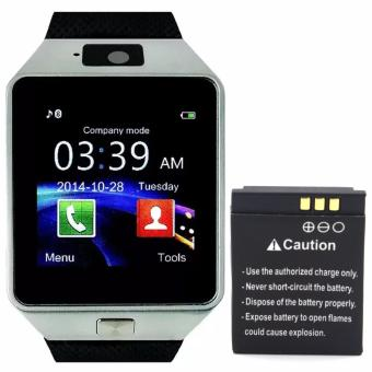 M9 Intelligent Phone Quad Smart Watch with Sim Card Slot(Black/Silver) with Extra Battery