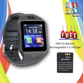 M9 Phone Quad Smart Watch (Black) with Free Battery