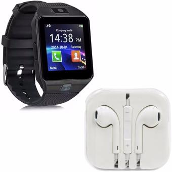 M9 Phone Quad Smart Watch (Black) With Free Headset (White)