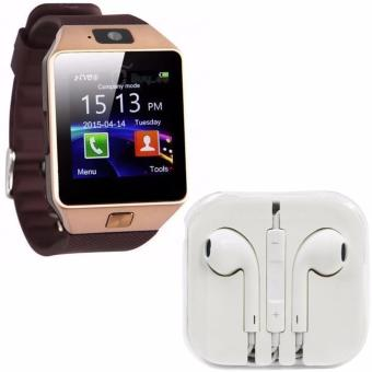 M9 Phone Quad Smart Watch (Gold) With Free Headset (White)