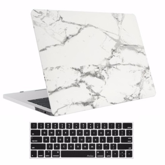 MacBook Pro (A1706/A1708)13 inch Case 2017 & 2016 Release A1706/A1708, Pro Case Rubberized Hard Case Shell Cover and Keyboard Skin Cover for Apple Macbook Pro 13 Inch with/without Touch Bar and Touch ID - Marble Pattern (Jade) - intl