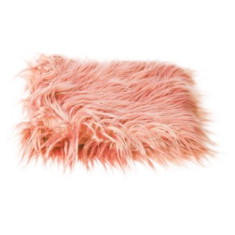 MagiDeal Baby Newborn Fur Photography Photo Props Blanket rug Background Pink - intl