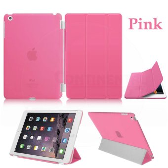 Magnetic Slim Leather Smart Cover Hard Back Case For Apple iPad 2 34 - intl