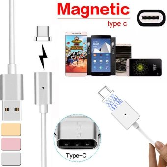 Magnetic USB Charger Cord Sync Data Cable Type-C For Android RoseGold - intl