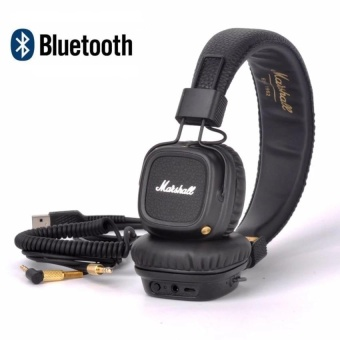 Major II Bluetooth Headphones Wireless Headset Foldable with Built-in Microphone and Remote Second Generation 2 (Black) - intl Price Philippines