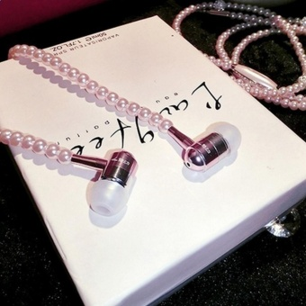 Makiyo Girl's Pearl Necklace Earphone Hi-Fi Wired Stereo In-ear Headset with Microphone - intl Price Philippines