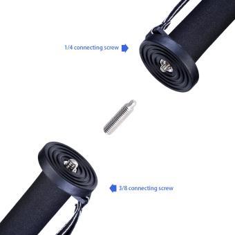 Manbily A-222 +M-1 Walking Stick Base Tripod 1650mm AlumninumCamera Unipod Monopod Flip Lock w/3 Legs Base Tripod For DSLR DV -intl - 4