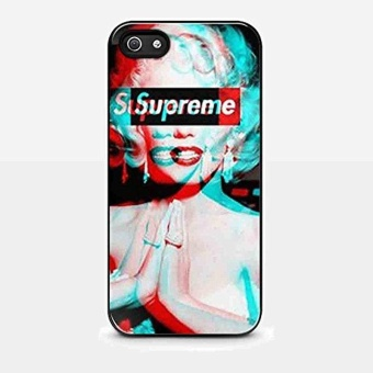 Marilyn Monroe Style Supreme for Iphone and Samsung Galaxy Case(iPhone 5/5s Black) - intl Price Philippines