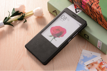 Max2 flip-men and women drop-resistant smart sleeping Leather cover phone case
