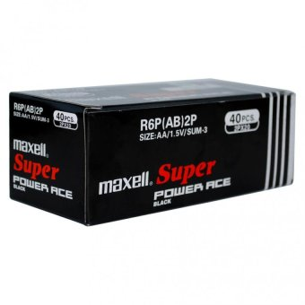 Maxell Super Power Ace AA Black 1 Box (40pcs) Price Philippines