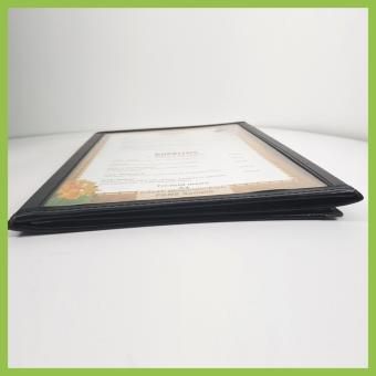 (MB008) Tri-fold Menu Jacket,Menu Holder 3 Pages with 6 views withcorner metal clip - 2