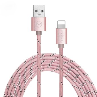 Mcdodo Woven Fabric Data Cable for Lightning USB Charging Cable foriPhone 6/6s/6S Plus/5/5s/5c/iPad/iPod MCA-1130/RG-0.25 (Rose Gold) Price Philippines