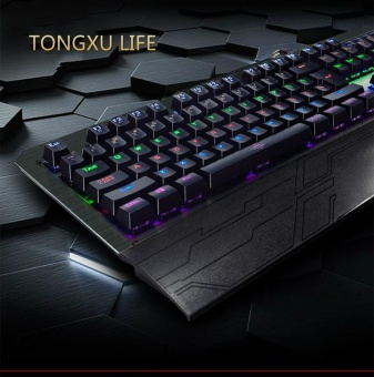 Mechanical Keyboard TONGXU LIFE Anti-Ghosting USB Wired Blue Switchkey Colorful Backlit Metal Panel Gaming keyboard for PC laptop -intl