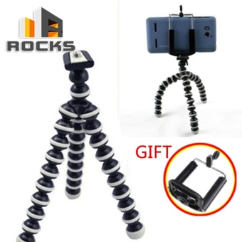 Medium Octopus Flexible Tripod Stand Gorilla Pod For IPhone CameraSport Camcorder Video With phone clip - intl