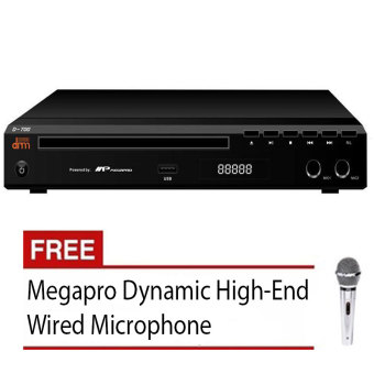 Megapro Doremi D-700 Karaoke DVD Player (Black) with Free Megapro Wired Microphone