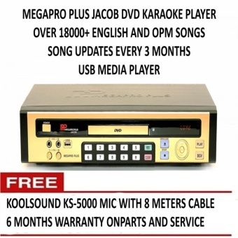 Megapro Plus Jacob DVD Karaoke With 18,000+ Songs, Free Microphone,6 Months Warranty Price Philippines