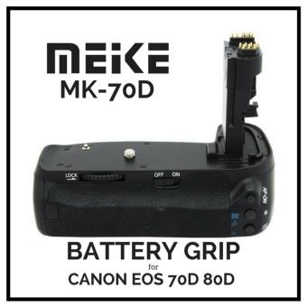 MeiKe MK-70D Vertical Battery Grip Holder For Canon EOS 80D 70D like BG-E14