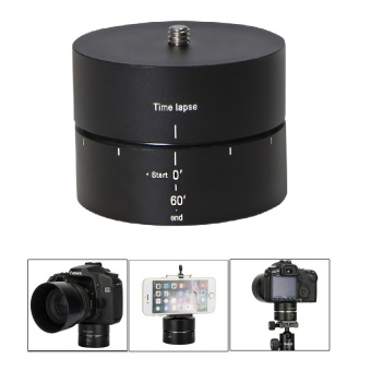 Meking 360 Panning Rotating Time Lapse Ball Head Stabilizer Tripodfor Camera Smartphone